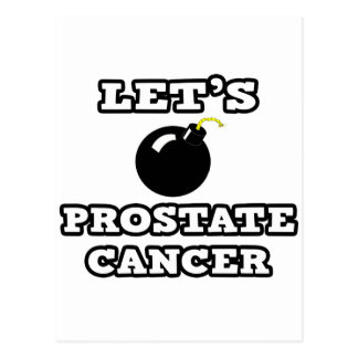 Let's Bomb Prostate Cancer Postcard