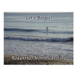 Let's Boogie Surfer Rodanthe NC Postcard