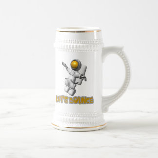 Lets Bounce astronaut 18 Oz Beer Stein