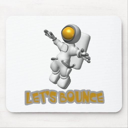 Lets Bounce astronaut Mouse Mat