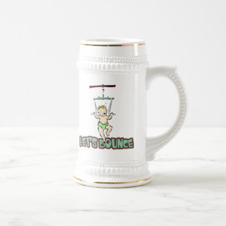 Lets Bounce baby jumper bouncer 18 Oz Beer Stein