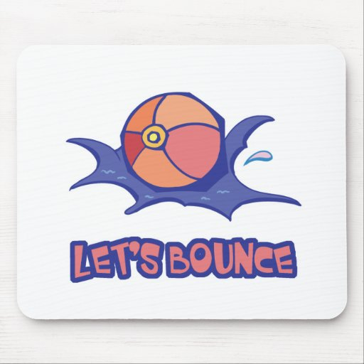 Lets Bounce Beach Ball Mouse Pad