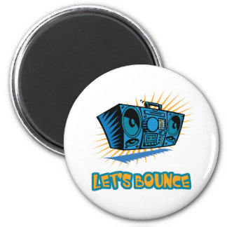 Lets Bounce Boom Box 2 Inch Round Magnet