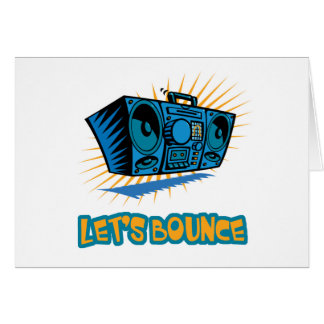 Lets Bounce Boom Box Greeting Card