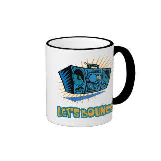 Lets Bounce Boom Box Ringer Coffee Mug