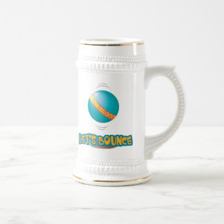 Lets Bounce Bouncing Ball 18 Oz Beer Stein
