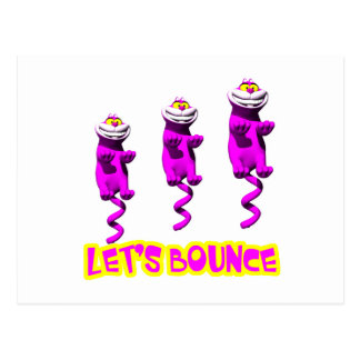 Lets Bounce Bouncing Kitty Cat Postcard