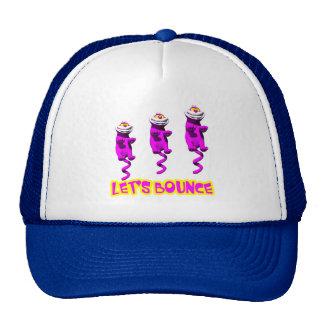 Lets Bounce Bouncing Kitty Cat Trucker Hat