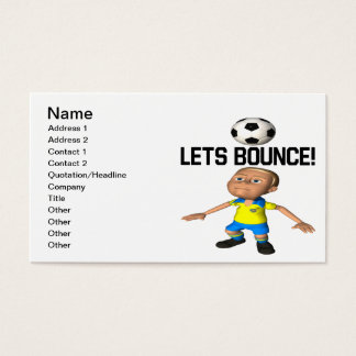 Lets Bounce Business Card
