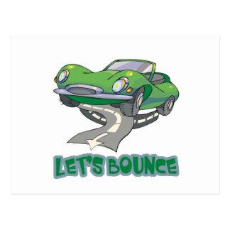 Lets Bounce Car Postcard