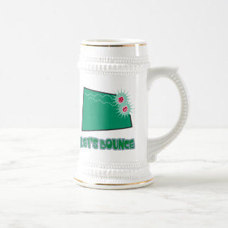 Lets Bounce Dice 18 Oz Beer Stein