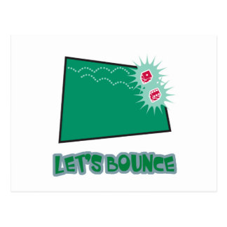 Lets Bounce Dice Postcard
