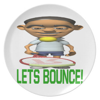 Lets Bounce Dinner Plate