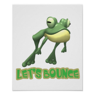 Lets Bounce Froggy Frog Poster