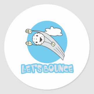 Lets Bounce Golf Ball Classic Round Sticker
