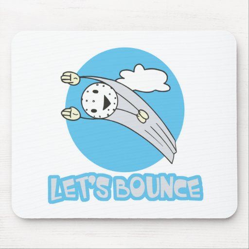 Lets Bounce Golf Ball Mouse Pad