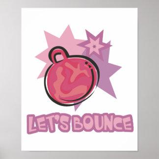 Lets Bounce Hoppity Hopping Ball Poster