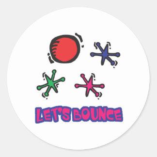 Lets Bounce Jacks Jax Classic Round Sticker