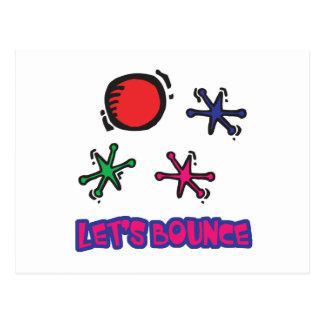 Lets Bounce Jacks Jax Postcard