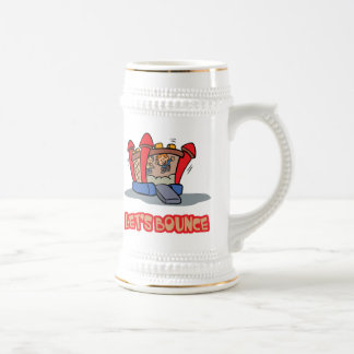 Lets Bounce Jump Castle 18 Oz Beer Stein