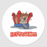 Lets Bounce Jump Castle Classic Round Sticker