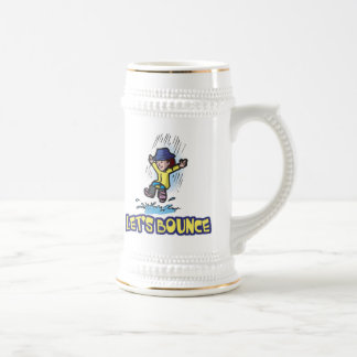 Lets Bounce Jumping In Puddle 18 Oz Beer Stein