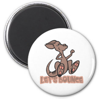 Lets Bounce Kangaroo 2 Inch Round Magnet