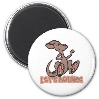 Lets Bounce Kangaroo Fridge Magnets
