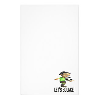 Lets Bounce Personalized Stationery