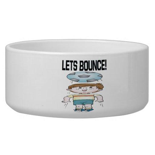Lets Bounce Dog Food Bowl