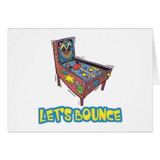 Lets Bounce Pinball Machine Card