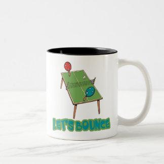 Lets Bounce Ping Pong Table Tennis Two-Tone Coffee Mug