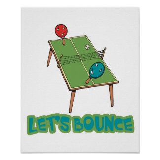 Lets Bounce Ping Pong Table Tennis Print