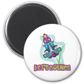 Lets Bounce Pogo Stick 2 Inch Round Magnet