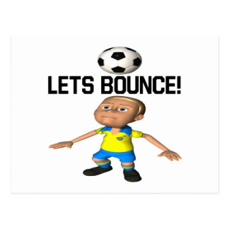 Lets Bounce Postcard