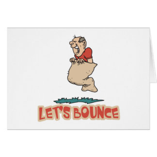 Lets Bounce Potato Sack Race Card