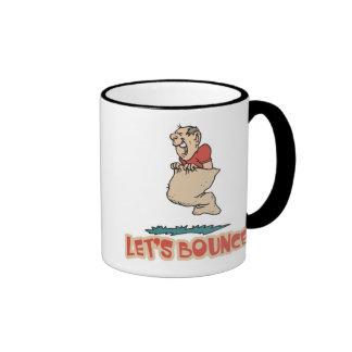 Lets Bounce Potato Sack Race Ringer Coffee Mug