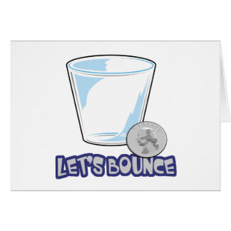 Lets Bounce Quarters Drinking Game Card