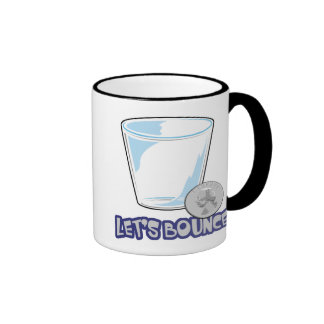Lets Bounce Quarters Drinking Game Ringer Coffee Mug