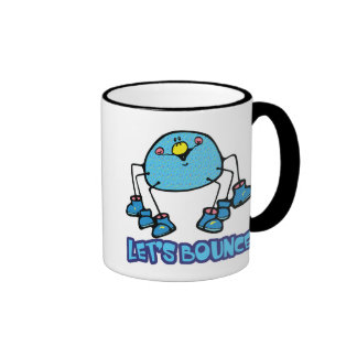 Lets Bounce SIlly Cute Spider Ringer Coffee Mug