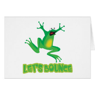 Lets Bounce Silly Frog Card