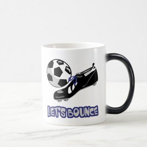 Lets Bounce Soccer Ball 11 Oz Magic Heat Color-Changing Coffee Mug