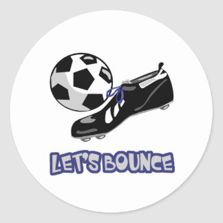 Lets Bounce Soccer Ball Classic Round Sticker