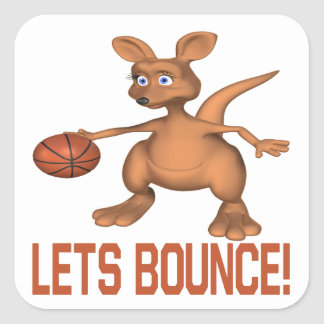 Lets Bounce Square Sticker