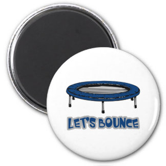 Lets Bounce Trampoline 2 Inch Round Magnet