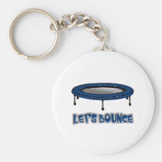 Lets Bounce Trampoline Basic Round Button Keychain