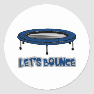 Lets Bounce Trampoline Classic Round Sticker