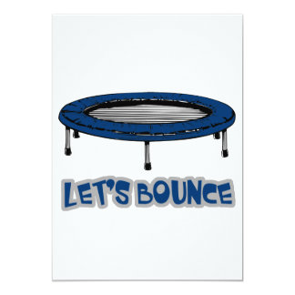 lets bounce trampoline design 5x7 paper invitation card