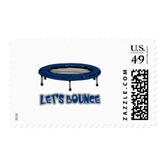 Lets Bounce Trampoline Postage Stamp