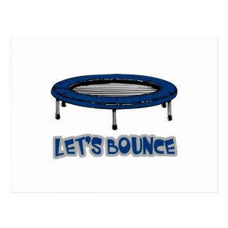 Lets Bounce Trampoline Postcard